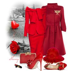 """Lady in RED by Sheniq"" by sheniq on Polyvore"