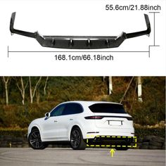 Carbon Fiber Rear For Sport Utility Porsche Parts, Porsche Cayenne, Carbon Fiber, Diffuser, Germany, Italy, Sports, Hs Sports, Italia
