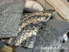 grey felt pillows