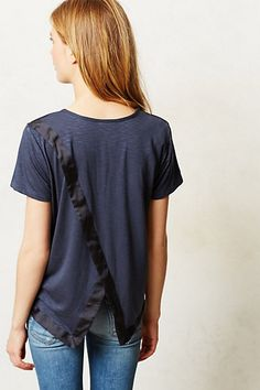 Naomi Crossback Tee shown with Mother Denim #jeans #tee #anthrofave