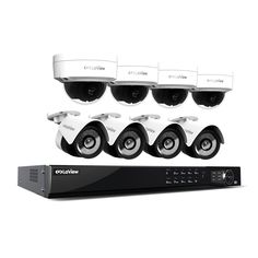 LaView 1080p IP NVR 8 Channel 4TB Hard Drive Video Security Surveillance System 4 PoE IP Bullet and 4 PoE IP Dome Cameras