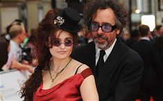 Cute married couple picture! Film producer Tim Burton and actress Helena Bonham Carter