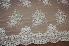 Vinatge style  lace fabric with cotton Floral by Retrolace on Etsy
