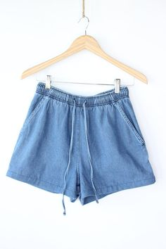 RARE Vintage 70s HIGH WAISTED Denim Shorts / Hot Pants / Super ...