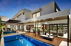 Modern mansion with pool