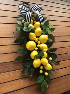 Lemon wreath eucalyptus wreath summer wreath front door | Etsy