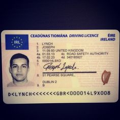 Contact us on produce best quality Ireland driver's licenses Notes Online, Passport Online, Real Id, Certificates Online, Birth Certificate, Card Maker, Ireland, National Insurance, Cards