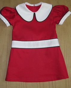 Retro 1960 Style Red Dress. $55.00, via Etsy.