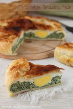 TORTA SALATA PASQUALINA VERSIONE FACILE un piatto tipico #Ligure, che trovo tutto l'anno qui a #Genova che mi piace molto e piace anche al mio cucciolo. La mia ricetta - http://blog.giallozafferano.it/statusmamma/torta-salata-pasqualina-facile/