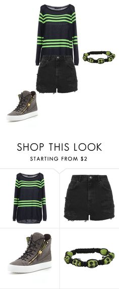 """""""Butter cup"""" by youngpunk6 on Polyvore featuring Blue Les Copains, Topshop, Giuseppe Zanotti and 7 For All Mankind"""