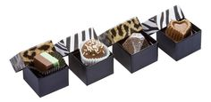 Chocolate In a Box. Offered with a variety of chocolates in milk, dark and white chocolate.