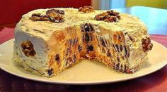 Торт трухлявый пень с курагой и черносливом