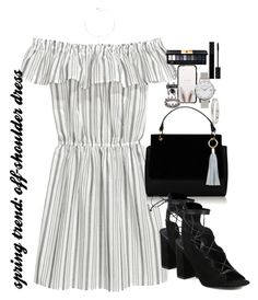 """spring trend: off-shoulder dress"" by ohsnapitzblanca ❤ liked on Polyvore featuring H&M, Yves Saint Laurent, Kate Spade, Olivia Burton, Cartier, Loree Rodkin and Gucci"