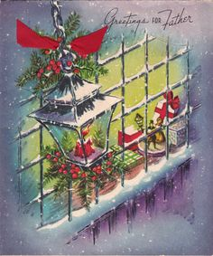 Old Christmas card - for Father