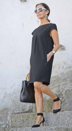 dojrzała kobieta - jaka fajna stylizacja, ladne buty