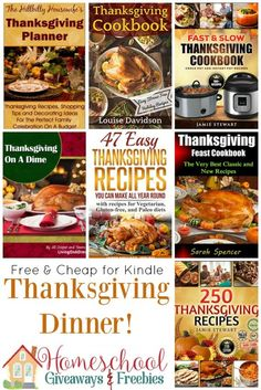 FREE and Cheap Kindle Books for Thanksgiving Dinner