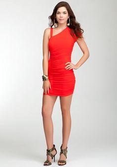 bebe | Asymmetric Knit Jersey Dress - View All