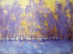 Sunrise, 1941, Igor Emmanuilovich Grabar. Russian painter born in Budepest (1871-1960)