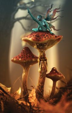 Shroom -- Fairy tale art has never looked so menacing. CG Artist: Laurent Pierlot