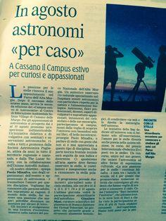 Corso di astronomia a Solinio VILLAGE