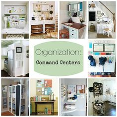 DIY:: 10 Organization Command Centers  For Your Home With Tutorials!