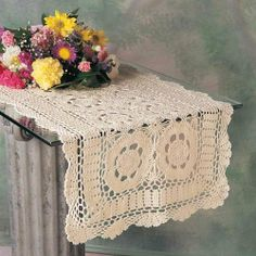 Handmade Crochet Lace Runner. 100% Cotton Crochet. Ecru, 16 Inch X45 Inch Oblong. One piece . by TCC. $17.20. Tablecloth, Doily, Placemat, Runner, Bedding. Machine Washable.. 100% Cotton Crochet. Imported China.. One piece. Handmade Crochet Lace Runner. 100% Cotton Crochet. Ecru, 16 Inch X45 Inch Oblong. Machine Washable. Imported China. One piece .