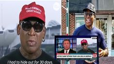 Celebrity Gossip - Former NBA player Dennis Rodman, got extremely emotional this morning when he made an appearance on CNN to talk about Donald Trump and Kim Jong-un meeting for the first time yesterday in Singapore. Celebrity Gossip, Celebrity News, Dennis Rodman, Nba Players, Obama, Donald Trump, Crying, Mens Sunglasses, Entertainment