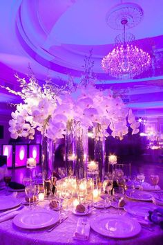 Photographer: Jovon Photography; Wedding reception centerpiece idea;