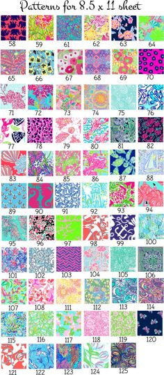 Lilly Pulitzer Vinyl Sheets 8.5 x 11 by SouthernIdeology on Etsy