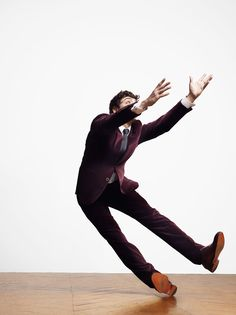 Nice suit. Did anyone tell the model that his job involved voluntarily falling and breaking his pelvis? Hermès Fall/Winter 2012 Catalogue