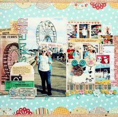 #papercraft #Scrapbook #layout.  State Fair by Jill Sprott