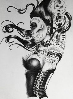 Dead, sexy, pin up girl ! zombie + pin up = <3                              …