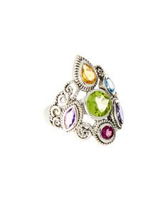 Another great find on #zulily! Sterling Silver & Jewel-Tone Gemstone Ring #zulilyfinds