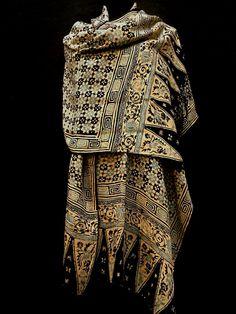 Vintage Indonesian Indigo Batik Silk Shawl by luxethnic on Etsy, $725.00