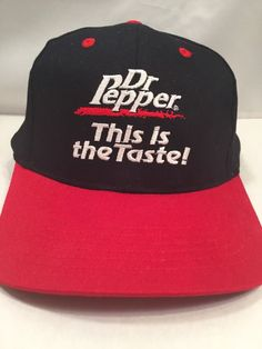 Embroidered Dr Pepper This is the Taste Snapback Hat | Clothing, Shoes & Accessories, Men's Accessories, Hats | eBay!