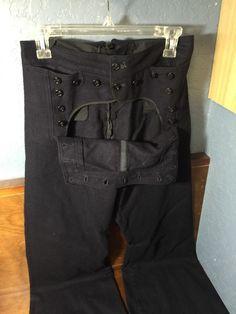 VTG WW2 US USN Navy Naval Clothing Factory Blue Wool SAILOR Uniform PANTS 29R | eBay