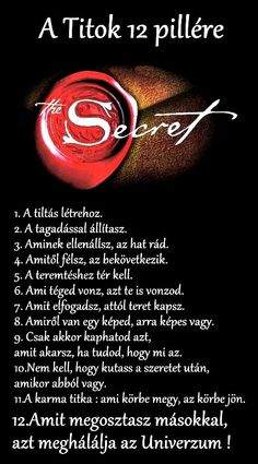 A Titok 12 pillére Rhonda Byrne Secret Law Of Attraction, Mind Tricks, Positive Thoughts, The Secret, Quotations, Motivational Quotes, Life Quotes, Blog, Wisdom
