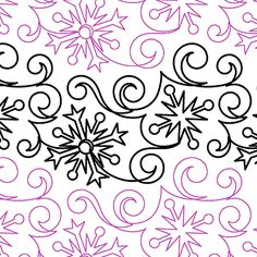 Flurries - Digital - Quilts Complete - Continuous Line Quilting Patterns