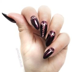 Sharm brown effect on nails. Check out full nail tutorial on YT - https://www.youtube.com/watch?v=3CeMLEL-0_s&