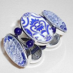 Asian Blue and White Porcelain Design Bracelet - on sale 24 hours only! 40% off and FREE shipping!