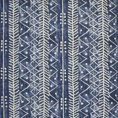 Galapagos - Lapis - Blue & White - Fabric - Products - Ralph Lauren Home - RalphLaurenHome.com