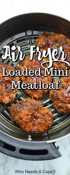 Air Frier Recipes, Air Fryer Oven Recipes, Air Fryer Dinner Recipes, Easy Dinner Recipes, Easy Meals, Air Fryer Recipes Meatloaf, Mini Meatloaf Recipes, Dessert Recipes, Homemade Desserts