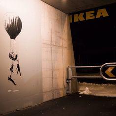 Work by Joy and IKEA #joystreetart #joy #bergenstreetart #streetartbergen #streetartphotography #gatekunst #eyrabergen #bergen #norway