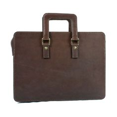 2102 top open leather briefcase - 06