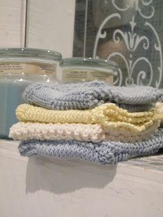 pretty washcloths on Margie's blog <3