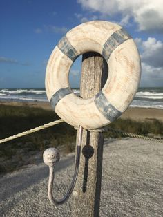 Wooden Life Ring Buoy Single Hook