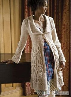 Winter's Tale knit coat ... russian site with graph chart