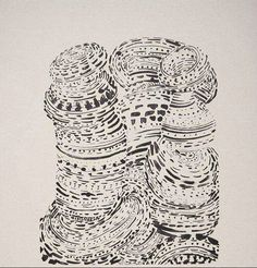 Tony Cragg   shape from pattern, line variation