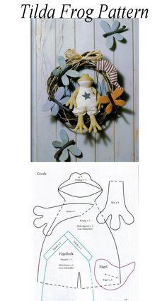 Tilda Frog Pattern