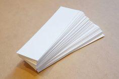 50 blank bookmarks  FREE SHIPPING  1.5 x 5 140lb by BurntCarmine